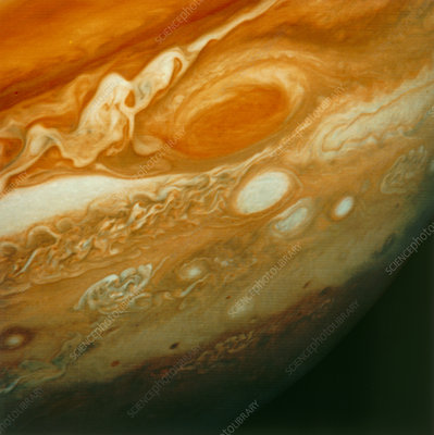 Voyager 1 view of Jupiter's Great Red Spot