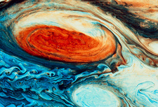 False-col Jupiter's Great Red Spot