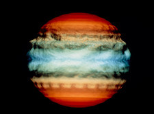 simulation of Jupiter after comet impact
