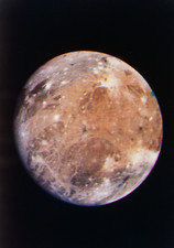 Voyager I photo of Ganymede, Jupiter's third moon