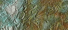 Galileo spacecraft image of Europa's surface
