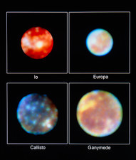 Hubble imagery of Jupiter's four Galilean moons