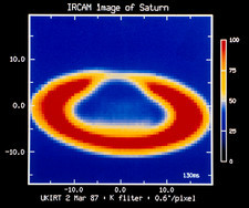 Infrared image of the planet Saturn
