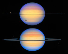 Two views of Saturn