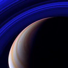 Saturn, Cassini infrared image