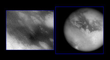 Huygens probe's landing site on Titan