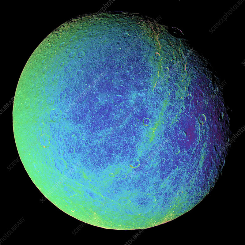 Saturn's moon Rhea, Cassini image