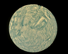 Voyager 2 image of Miranda, moon of Uranus