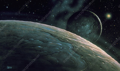 Illustration of Pluto and Charon