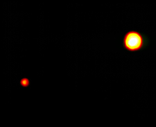 Hubble image of Pluto and Charon