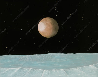 Artist's impression of Pluto seen from its moon