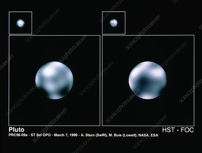 Hubble Space Telescope images of Pluto