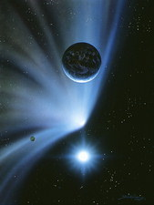 Comet or asteroid approaching Earth