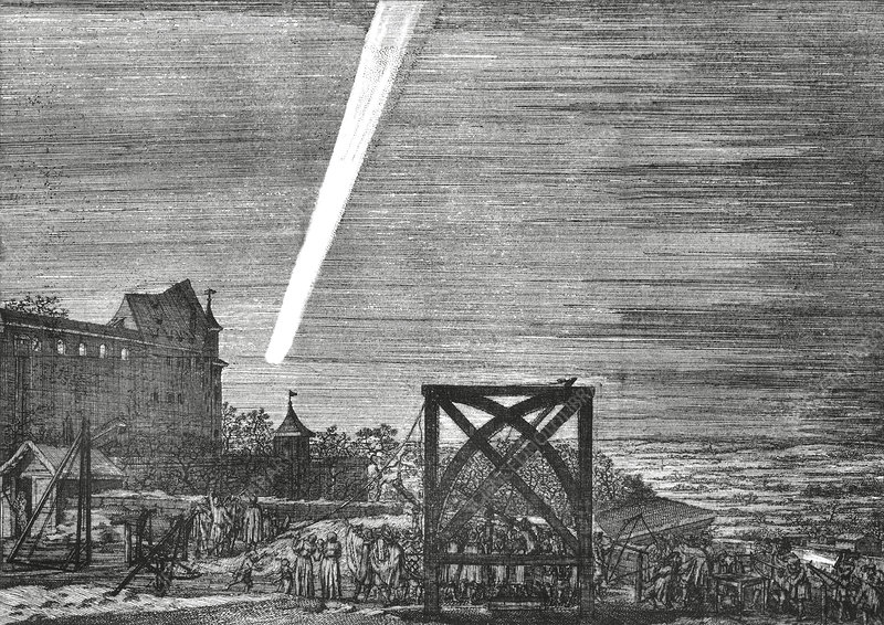Great Comet of 1680, artwork