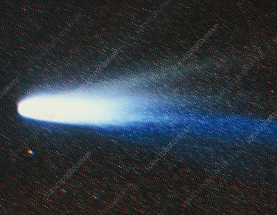 Composite image of comet Halley