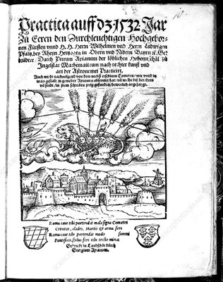 1532 woodcut of Halley's Comet