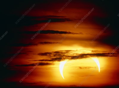View of an annular eclipse occurred on 4/1/1992