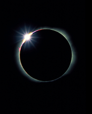 Diamond ring effect during total solar eclipse