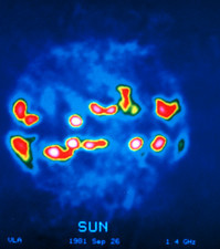 False-col VLA radio image of the Sun
