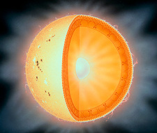 Artist's impression of the Sun