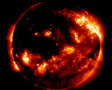 X-ray image of the Sun taking before an eclipse