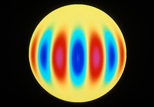 Computer simulation of the Sun's oscillations
