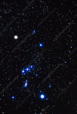 Constellation of Orion with halo effect