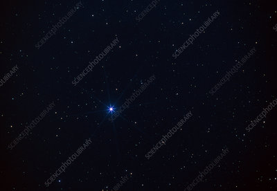 Star Spica in the Virgo constellation