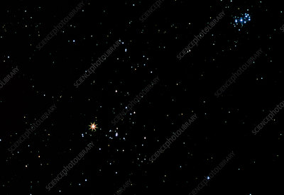 Aldebaran star in the constellation of Taurus