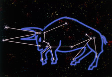 Artwork of the zodiacal constellation Taurus