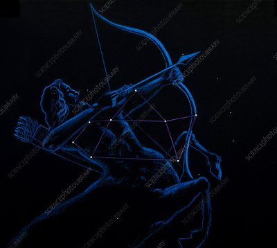 Artwork of the zodiacal constellation Sagittarius