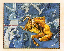 Historical artwork of the constellation of Taurus