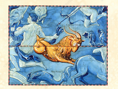 Historical art of the constellation of Capricornus