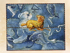 Historical artwork of the constellation of Aries