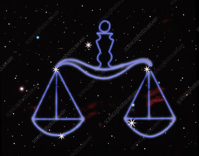 Artwork of the zodiacal constellation Libra