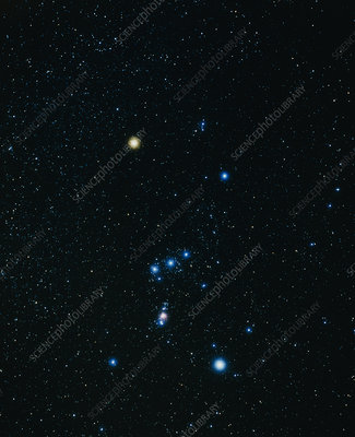 Optical image of the constellation Orion