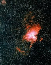 Optical image of the Eagle nebula M16