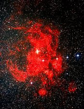 Optical image of emission nebula NGC 6357