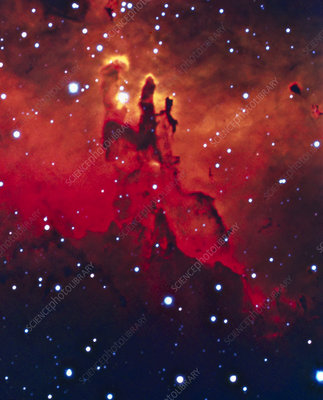 CCD optical image of the Eagle nebula, M16