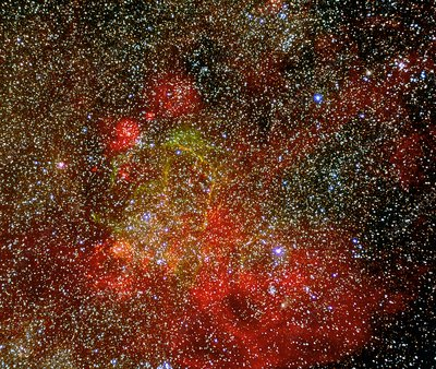 CCD optical image of the Gum nebula