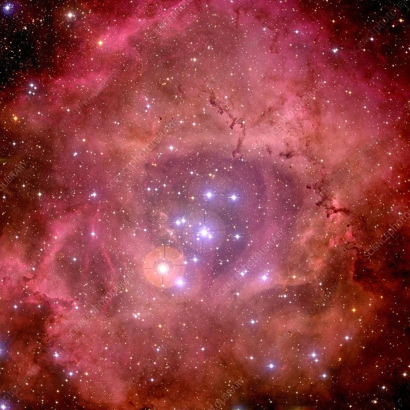 Rosette nebula (NGC 2244), optical image