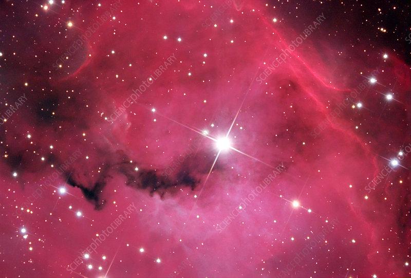 Emission nebula NGC 2327, optical image