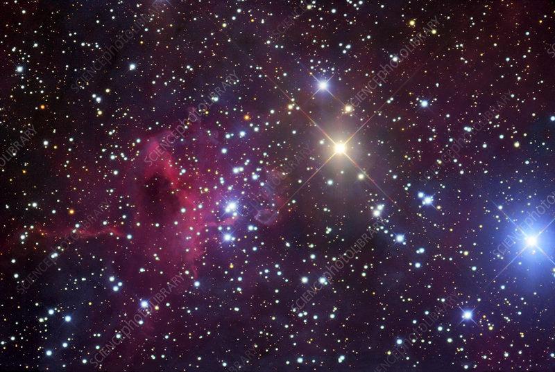 Emission nebula IC 417, optical image