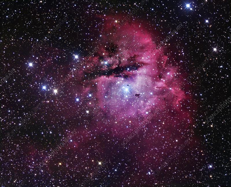 Emission nebula NGC 281, optical image