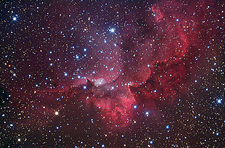 Emission nebula Sh2-142, optical image