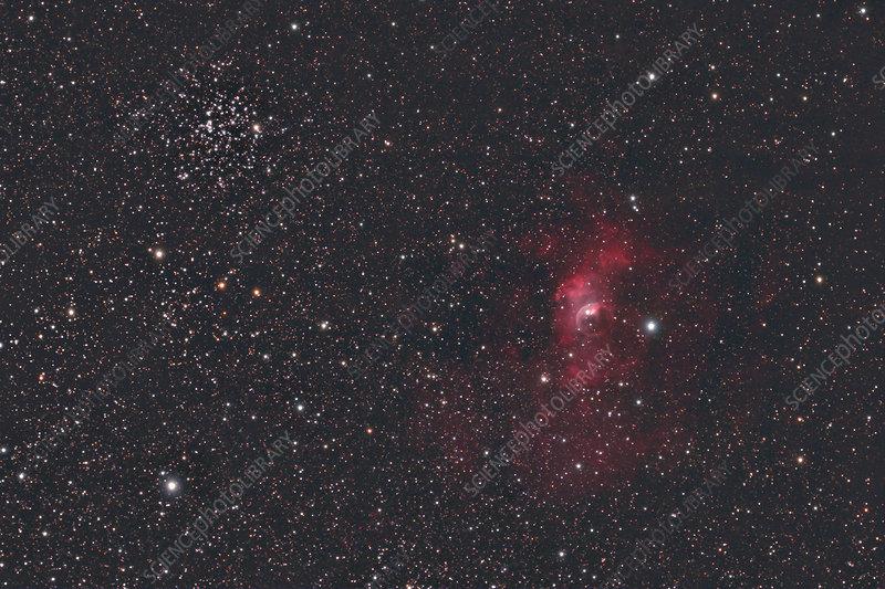 'M52 and NGC 7635, Bubble Nebula'