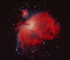Optical photograph of the Orion Nebula