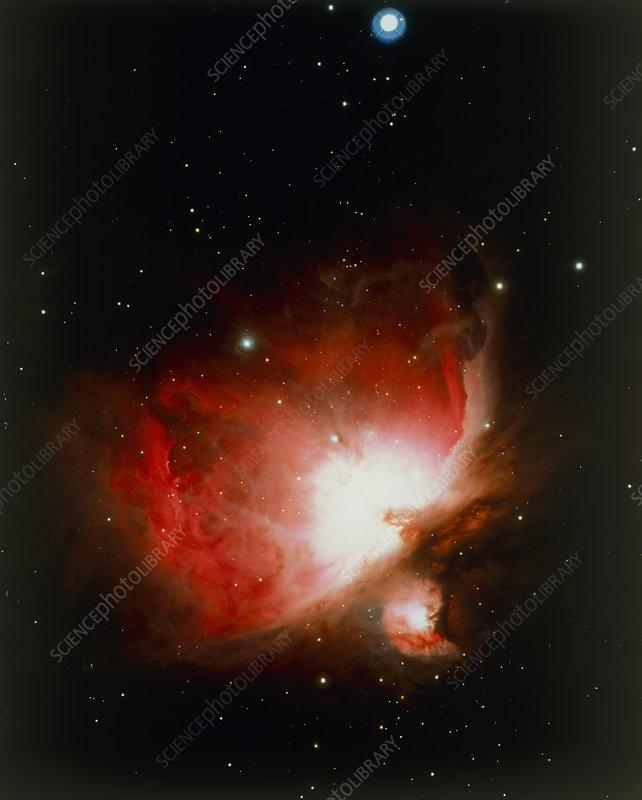 Optical photo of the Orion Nebula