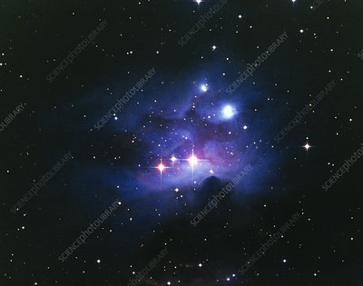 Optical image of the nebula NGC 1977 in Orion