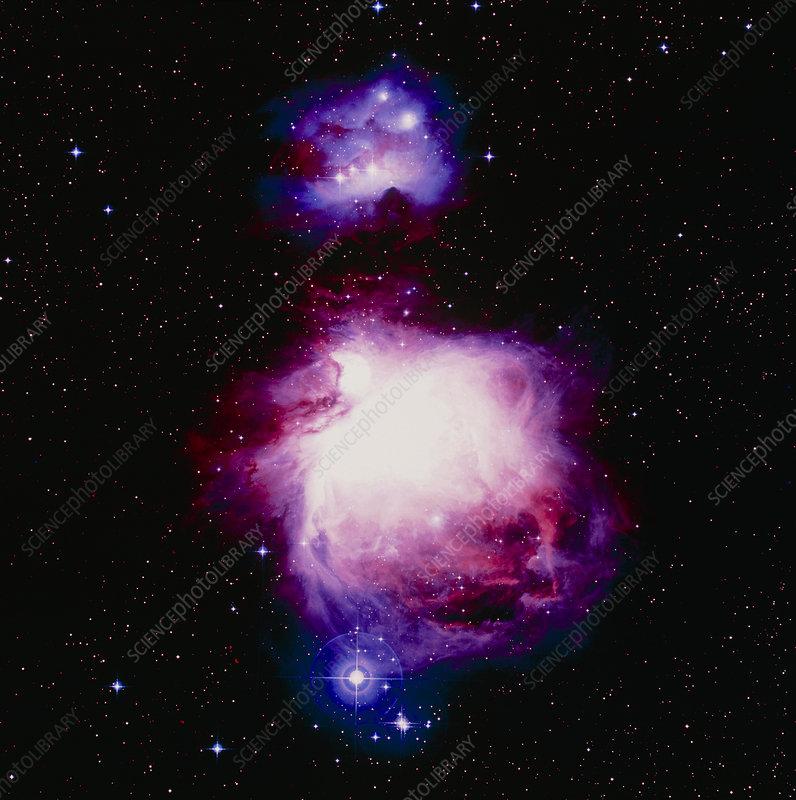 True-colour optical image of the Orion nebula